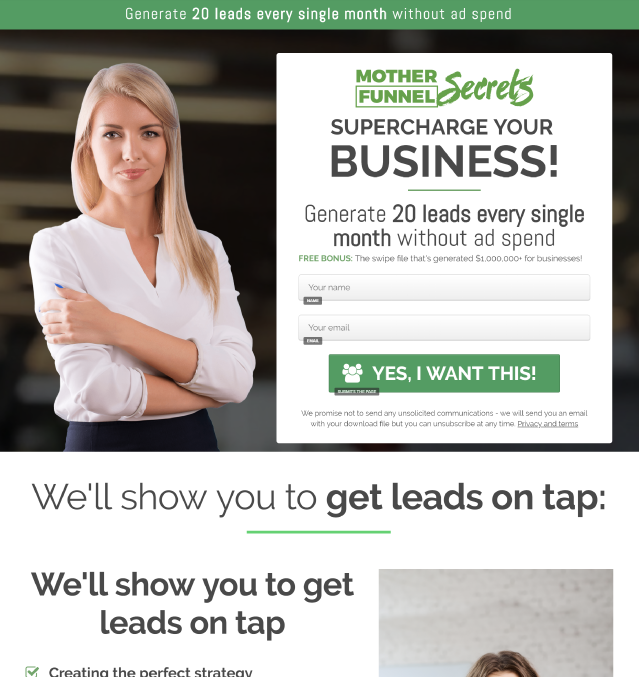 Lead Magnet Funnel Template